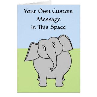 Gray Elephant Card