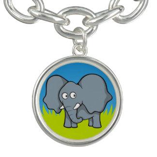 Gray elephant cartoon bracelet