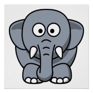 GRAY ELEPHANT PERFECT POSTER
