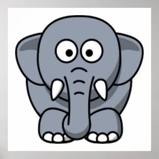 GRAY ELEPHANT POSTER