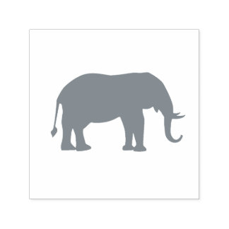 Gray Elephant Tusks Self-inking Stamp