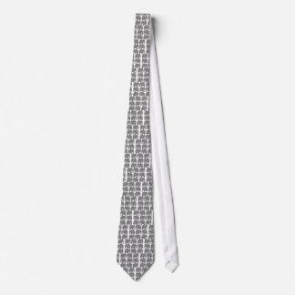 Gray Elephants Silhouette Tie