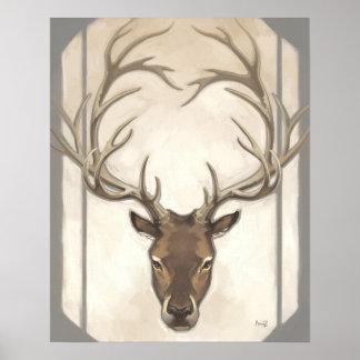 Gray Elk Print
