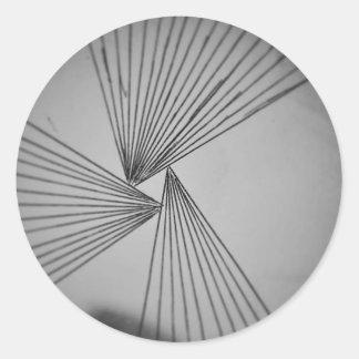 Gray Explicit Focused Love Classic Round Sticker