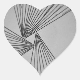 Gray Explicit Focused Love Heart Sticker