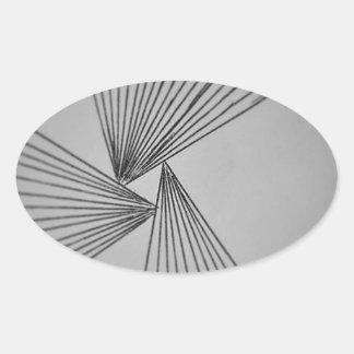 Gray Explicit Focused Love Oval Sticker