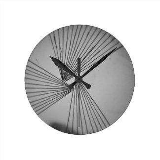 Gray Explicit Focused Love Round Clock