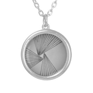 Gray Explicit Focused Love Silver Plated Necklace