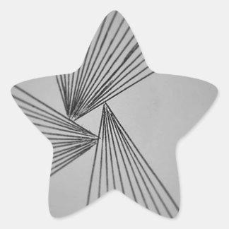 Gray Explicit Focused Love Star Sticker