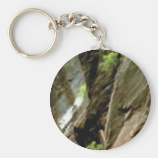 gray face of rock keychain