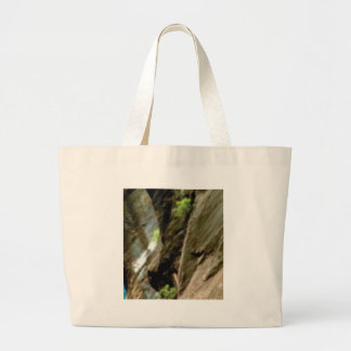 gray face of rock large tote bag