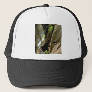 gray face of rock trucker hat