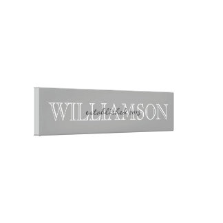 Gray Family Name Monogram Sign