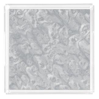 Gray Faux Marble Acrylic Decorative Tray Gift