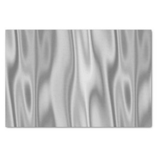 Gray Faux Satin Fabric in Folds Tissue Paper