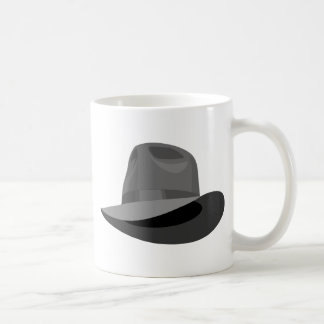 Gray Fedora narrow ribbon Basic White Mug