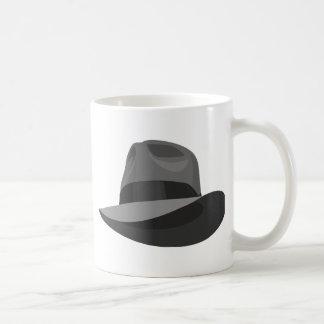 Gray Fedora wide ribbon Coffee Mug