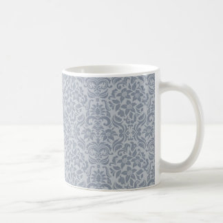 Gray Floral Wedding Mug or Cup Wedding Gift