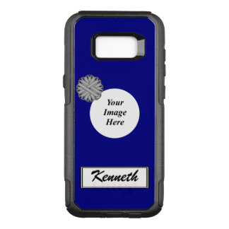 Gray Flower Ribbon Template by Kenneth Yoncich OtterBox Commuter Samsung Galaxy S8+ Case