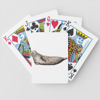 Gray Foca Bicycle Playing Cards