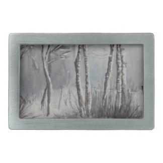 Gray Forest Rectangular Belt Buckles