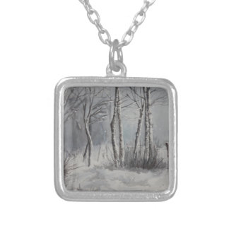 Gray Forest Silver Plated Necklace