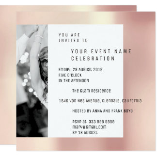 Gray Foto Pearly Geometry Pink Rose Metallic VIP Card
