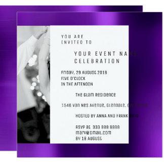 Gray Foto Pearly Geometry Purple Plum Metallic VIP Card