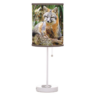 Gray Fox Photograph Art  Lamp