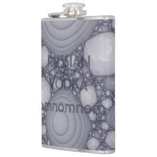 Gray fractal hip flask