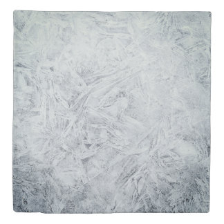Gray frost design duvet cover