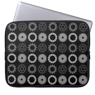 Gray Gears Laptop Sleeve