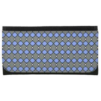 Gray-Geo-Diamonds-Leather-Wallet-Lg Leather Wallet For Women