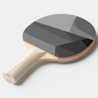 Gray Geometric Blocks Ping Pong Paddle
