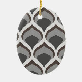 gray geometric drops ceramic ornament