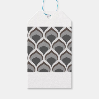 gray geometric drops gift tags