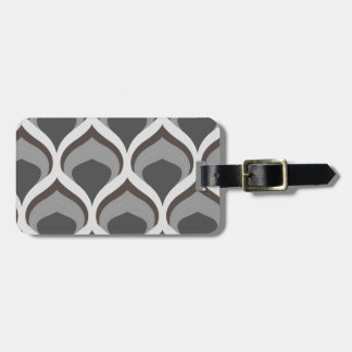gray geometric drops luggage tag