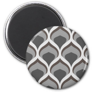 gray geometric drops magnet