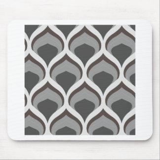 gray geometric drops mouse pad