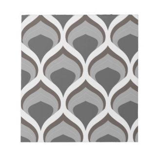 gray geometric drops notepad