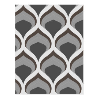 gray geometric drops postcard