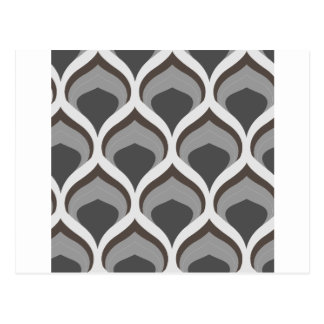 gray geometric drops postcard