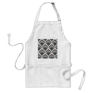 gray geometric drops standard apron
