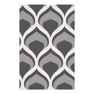 gray geometric drops stationery