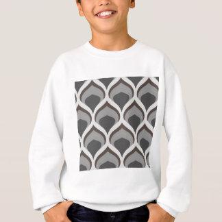 gray geometric drops sweatshirt