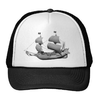 Gray Ghost Ship Trucker Hat
