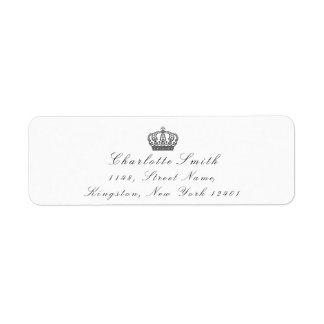 Gray Glitter RSVP Crown Princess Bridal White