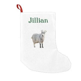 Gray Goat Photograph Design Small Christmas Stocking