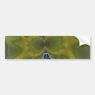 Gray Goblin in Green, Fun Spooky Imp Bumper Sticker
