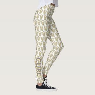Gray & Gold Awareness Ribbon Angel Pant Leggings